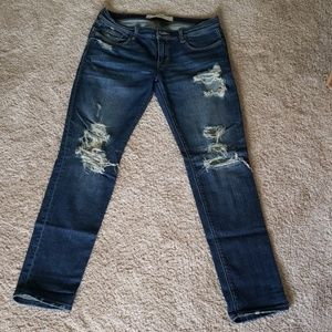 A&F destroyed jeans